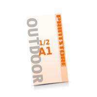 4 färbige Outdoor-Plakate  ½ A1 (297x840mm) einseitige Outdoor-Plakate