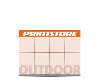 1-5 färbige Outdoor-Plakate 16/1 Großflächen-Plakat (2380x3360mm)  8 Plakate  A0 überlappend plakatiert einseitige Großflächen-Plakate