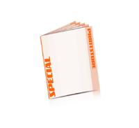 Spezial-Klebefalz Beilagen drucken  10 Seiten  A4 (210x297mm)   4 färbiger Beilagendruck
