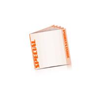 Spezial-Klebefalz Beilagen drucken  10 Seiten  148x148mm   4 färbiger Beilagendruck