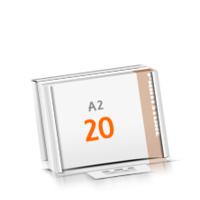 in Versandverpackung Schreibunterlagen mit  20 Blatt