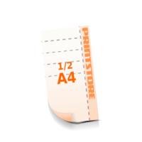 5 Perforationslinien  ½ A4 (105x297mm) Flyer mit bis zu  6 Druckfarben drucken beidseitiger Flyerdruck Flyer mit Perforierung