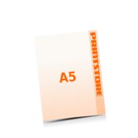 A5 (148x210mm) Stanzform Fußabdruck Gestanzte Flyer mit bis zu  6 Druckfarben drucken einseitiger Stanzflyerdruck