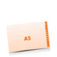 A5  quer (210x148mm) Stanzform Katze Gestanzte Flyer mit bis zu  6 Druckfarben drucken einseitiger Stanzflyerdruck