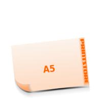 A5  quer (210x148mm) Stanzform Schneeflocke Gestanzte Flyer mit bis zu  6 Druckfarben drucken einseitiger Stanzflyerdruck