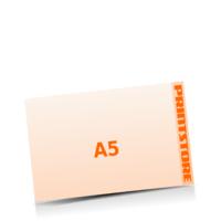 A5  quer (210x148mm) Stanzform Sprechblase Gestanzte Flyer mit bis zu  6 Druckfarben drucken einseitiger Stanzflyerdruck