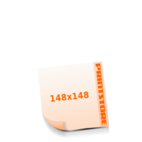 148x148mm Stanzform Rund Gestanzte Flyer mit bis zu  6 Druckfarben drucken einseitiger Stanzflyerdruck
