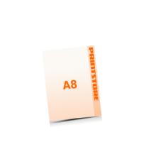 A8 (52x74mm) Digitaldruck Flyer Digitaldruck 1- oder 4-färbig drucken