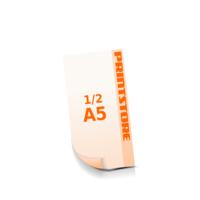 ½ A5 (74x210mm) Digitaldruck Flyer Digitaldruck 1- oder 4-färbig drucken
