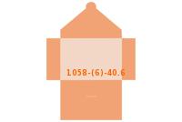 Stanzform 1058-(6)-40.6 Mappen-Füllhöhe: 6mm Mappen einseitig drucken & stanzen