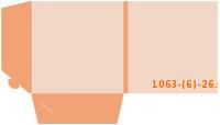 Stanzform 1063-(6)-26.6 Mappen-Füllhöhe: 6mm Mappen einseitig drucken & stanzen