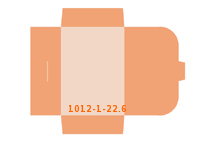 eingeklebte CD-ROM Tasche Stanzform 1012-(1)-22.6 Mappen-Füllhöhe: 6mm Angebotsmappen einseitig drucken stanzen & falten