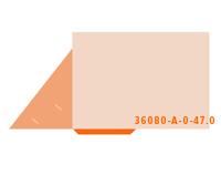 eingeklebte CD-ROM Tasche Stanzform 36080-A-(0)-47.0 Mappen-Füllhöhe: 0mm Flügelmappen einseitig drucken stanzen, kleben & falten
