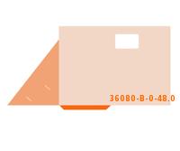 eingeklebte CD-ROM Tasche Stanzform 36080-B-(0)-48.0 Mappen-Füllhöhe: 0mm Flügelmappen einseitig drucken stanzen, kleben & falten