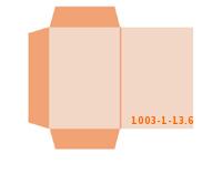 eingeklebte Dreiecks Tasche Stanzform 1003-(1)-13.6 Mappen-Füllhöhe: 6mm Angebotsmappen einseitig drucken stanzen & falten