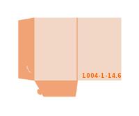 eingeklebte Dreiecks Tasche Stanzform 1004-(1)-14.6 Mappen-Füllhöhe: 6mm Angebotsmappen einseitig drucken stanzen & falten