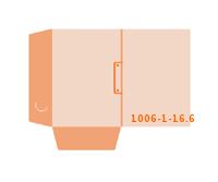 eingeklebte Dreiecks Tasche Stanzform 1006-(1)-16.6 Mappen-Füllhöhe: 6mm Angebotsmappen einseitig drucken stanzen & falten
