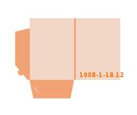 eingeklebte Dreiecks Tasche Stanzform 1008-(1)-18.12 Mappen-Füllhöhe: 12mm Angebotsmappen einseitig drucken stanzen & falten