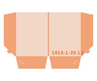 eingeklebte Dreiecks Tasche Stanzform 1010-(1)-20.12 Mappen-Füllhöhe: 12mm Angebotsmappen einseitig drucken stanzen & falten