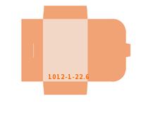 eingeklebte Visitenkarten Tasche Stanzform 1012-(1)-22.6 Mappen-Füllhöhe: 6mm Angebotsmappen einseitig drucken stanzen & falten