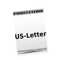 US-Letter (216x279mm)  1-6 färbige Briefpapiere Euroskala, HKS-Sonderfarben oder Pantone-Sonderfarben einseitig bedruckte Briefpapiere