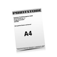 A4 (210x297mm) Personalisierung, CMYK der Euroskala  1-6 färbige Briefpapiere Euroskala, HKS-Sonderfarben oder Pantone-Sonderfarben einseitig bedruckte Briefpapiere einseitig personalisiert