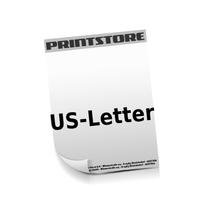 US-Letter (216x279mm)  1-6 färbige Briefpapiere Euroskala, HKS-Sonderfarben oder Pantone-Sonderfarben beidseitig bedruckte Briefpapiere