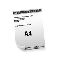 A4 (210x297mm) Personalisierung, Schwarz der Euroskala  1-6 färbige Briefpapiere Euroskala, HKS-Sonderfarben oder Pantone-Sonderfarben beidseitig bedruckte Briefpapiere einseitig personalisiert