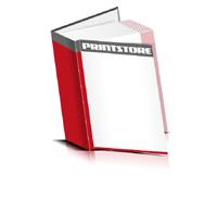 Bücher drucken Papier Buchüberzug gerader Buchrücken Fadenheftung Buchdruck im Hochformat