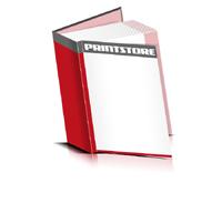 Bücher drucken Papier Buchüberzug bedruckter Vorsatz & Nachsatz gerader Buchrücken Fadenheftung Buchdruck im Hochformat