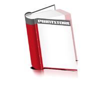 Bücher drucken Papier Buchüberzug runder Buchrücken Fadenheftung Buchdruck im Hochformat