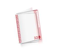 Digitaldruck Kataloge drucken  4 Seiten bis  268 Seiten Digitaldruck Kataloge mit Drahtkammbindung PVC-Frontblatt und PVC-Endblatt (2 Blätter PVC) Drahtkamm links Hochformat