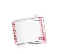 Digitaldruck Kataloge drucken  4 Seiten bis  268 Seiten Digitaldruck Kataloge mit Drahtkammbindung PVC-Frontblatt und PVC-Endblatt (2 Blätter PVC) Drahtkamm links Querformat