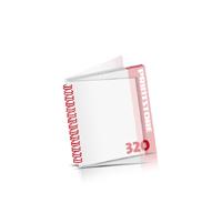 Digitaldruck Kataloge drucken  4 Seiten bis  268 Seiten Digitaldruck Kataloge mit Drahtkammbindung PVC-Frontblatt und PVC-Endblatt (2 Blätter PVC) Drahtkamm links Quadratformat