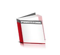 Softcover Broschüren drucken  4 Seiten Umschlag Fadenbindung Quadratformat