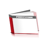 Softcover Broschüren drucken  4 Seiten Umschlag Fadenbindung Querformat
