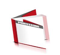 Softcover Broschüren drucken  8 Seiten Umschlag Fadenbindung Querformat
