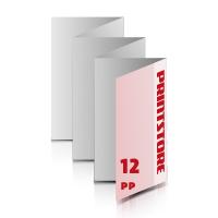 Falzblätter drucken Falzblätter drucken & perforieren  12-seitige Falzblatt  5-Bruch Zickzack-Falz  1-6 färbige Falzblätter Euroskala, HKS-Schmuckfarben oder Pantone-Schmuckfarben beidseitig bedruckte Falzblätter