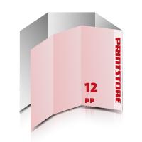 Falzblätter drucken Falzblätter drucken & perforieren  12-seitige Falzblatt  2-Bruch Wickel-Falz und  1-Bruch Parallel-Falz  1-6 färbige Falzblätter Euroskala, HKS-Schmuckfarben oder Pantone-Schmuckfarben beidseitig bedruckte Falzblätter