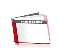 Flexocover-Bücher drucken Papier Buchüberzug bedruckter Vorsatz & Nachsatz gerader Buchrücken Fadenheftung Buchdruck im Querformat