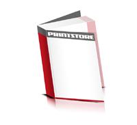 Flexocover-Bücher drucken Papier Buchüberzug bedruckter Vorsatz & Nachsatz gerader Buchrücken Fadenheftung Buchdruck im Hochformat