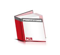 Bücher drucken Papier Buchüberzug bedruckter Vorsatz & Nachsatz gerader Buchrücken PUR-Klebebindung Buchdruck im Quadratformat