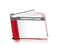 Bücher drucken Papier Buchüberzug runder Buchrücken Fadenheftung Buchdruck im Querformat