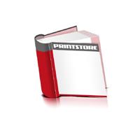 Bücher drucken Papier Buchüberzug bedruckter Vorsatz & Nachsatz runder Buchrücken Fadenheftung Buchdruck im Quadratformat