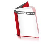 Softcover Kataloge drucken  6 Seiten Umschlag Klebebindung Hochformat