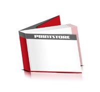 Softcover Kataloge drucken  6 Seiten Umschlag Klebebindung Querformat
