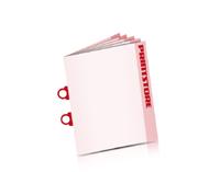 Zeitschriften drucken Omegadrahtheftung  2 Omega-Klammern Hochformat