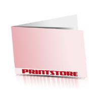 Klappvisitenkarten drucken einseitig bedruckte Klappvisitenkarten Office-Drucksorten