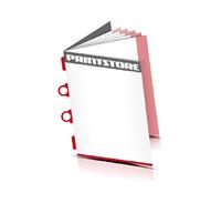 Broschüren drucken  4 Seiten Umschlag Kombinationsheftung  2 Omega-Klammern &  2 Klammern