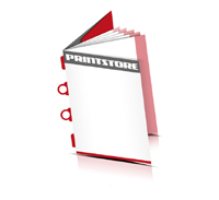 Broschüren drucken  6 Seiten Umschlag Kombinationsheftung  2 Omega-Klammern &  2 Klammern